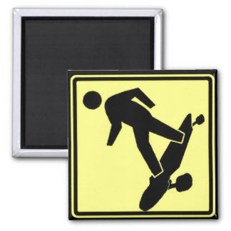 Man on Board 2 Inch Square Magnet