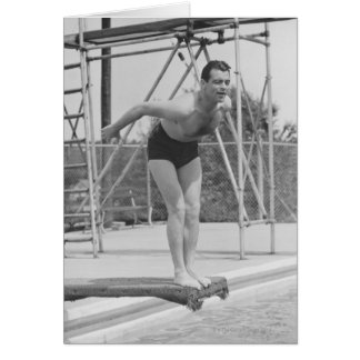 Man on Diving Board Cards