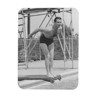 Man on Diving Board Magnet