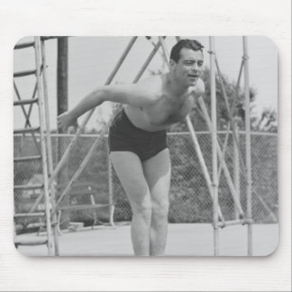 Man on Diving Board Mouse Pad