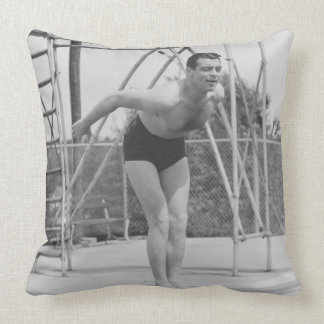 Man on Diving Board Pillows