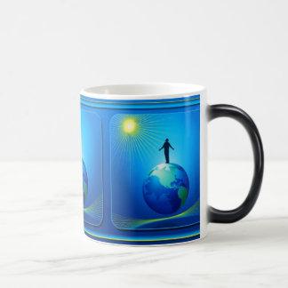 Man on Globe Magic Mug