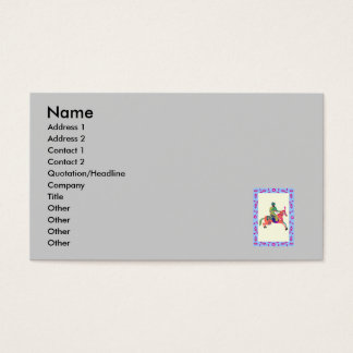 man on horse business card