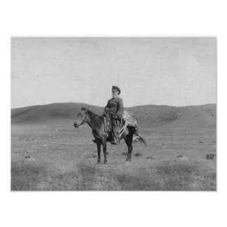 Man on Horse with Slain Antelope Photograph Poster