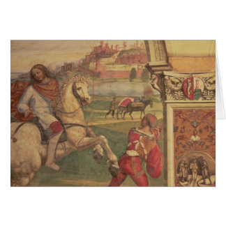 Man on Horseback, from the Life of St. Benedict (f Card