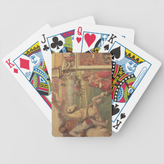 Man on Horseback, from the Life of St. Benedict (f Playing Cards
