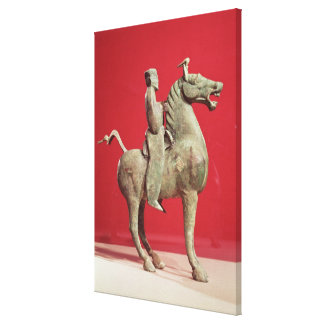 Man on horseback from Wu-wei, Kansu Canvas Print