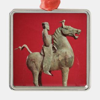 Man on horseback from Wu-wei, Kansu Metal Ornament