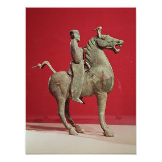 Man on horseback from Wu-wei, Kansu Print