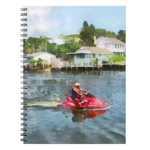 Man on Jet Ski Note Book