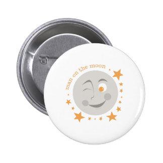 Man On Moon Button