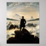 Man on Mountain Top Vintage Poster