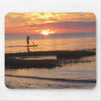 Man on Paddle Board in Cape Cod Mousepad
