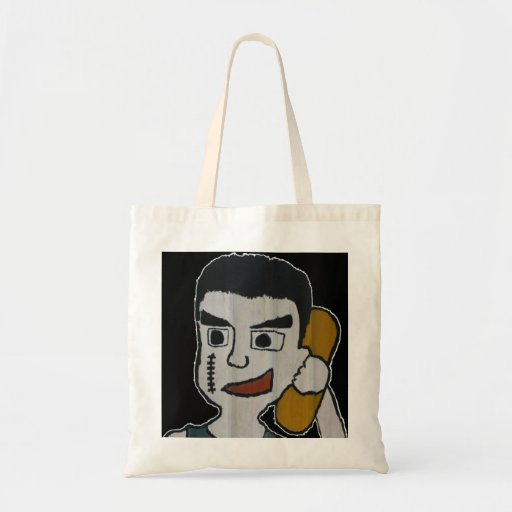Man on phone bag
