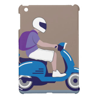 Man on Scooter Cover For The iPad Mini