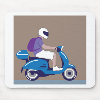 Man on Scooter Mouse Pad