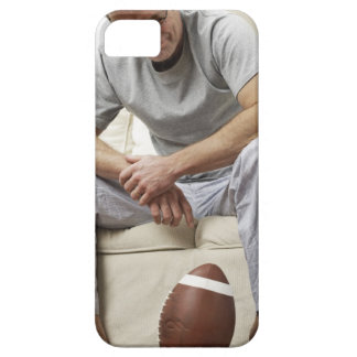 Man on Sofa with Football iPhone SE/5/5s Case