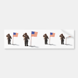 Man on the moon - Astronaut Bumper Stickers