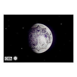 Man on the Moon Logo Poster