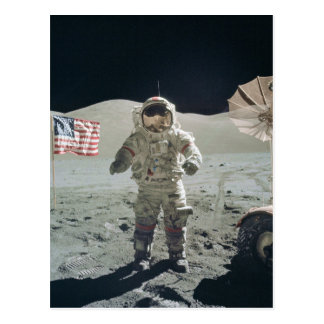 Man on the moon postcard