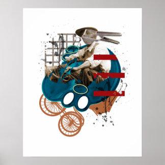 Man On Wheels Poster