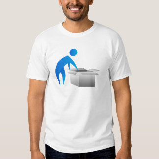 Man Opening Box Stick Figure Icon Shirts