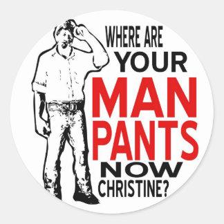 Man Pants Sticker