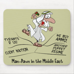 Man Pawn Arab Middle East Unrest Mouse Pad