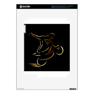 Man performing stunt on motorbike decal for iPad 3