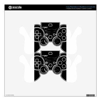 Man performing stunt on motorbike PS3 controller decal
