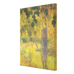 Man Picking Fruit from a Tree, 1897 Stretched Canvas Print