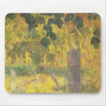 Man Picking Fruit from a Tree, 1897 Mouse Pad