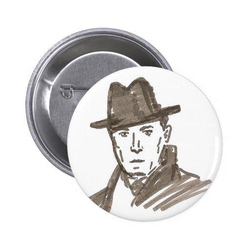 man pinback button