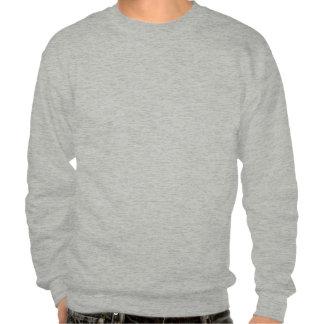 man plastering pull over sweatshirt