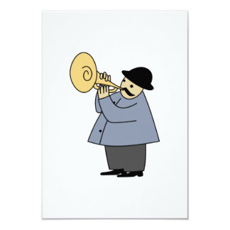 Man Playing a Musical Instrument 3.5x5 Paper Invitation Card
