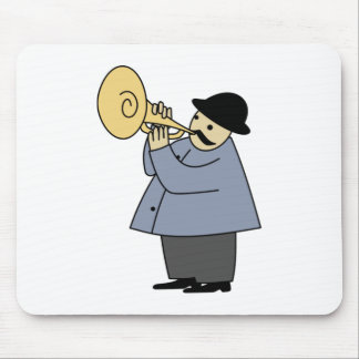 Man Playing a Musical Instrument Mouse Pad