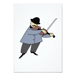 Man Playing a Violin 3.5x5 Paper Invitation Card