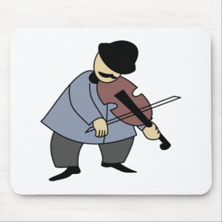 Man Playing a Violin Mouse Pad
