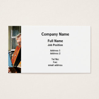 Man Playing Accordion Business Card