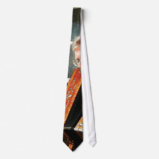 Man Playing Accordion Neck Tie