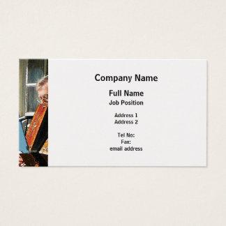 Man Playing Accordion - Platinum Finish Business Card