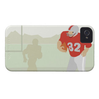 Man playing American football iPhone 4 Case-Mate Case