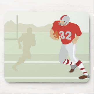 Man playing American football Mouse Pad