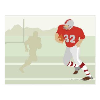 Man playing American football Postcard