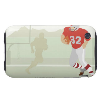 Man playing American football Tough iPhone 3 Cover