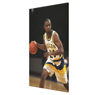 Man playing basketball 2 gallery wrapped canvas