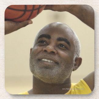 Man playing basketball 4 beverage coaster