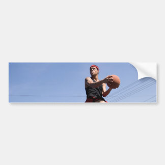 Man Playing Basketball Car Bumper Sticker