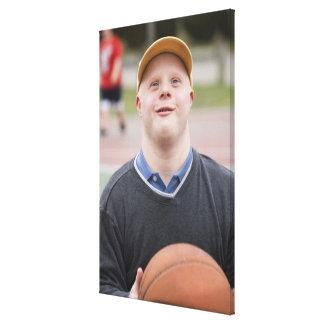 Man playing basketball canvas print
