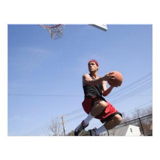 Man Playing Basketball Flyer
